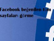 Facebook beğenilen tüm sayfaları görme