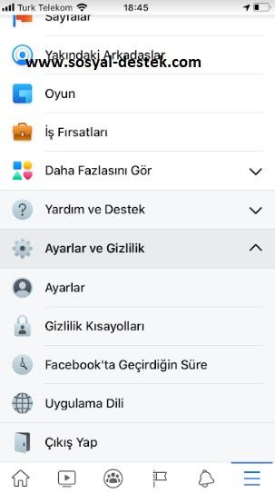 facebook hesap sahipliği nerede