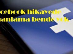 Facebook hikayede puanlama bende yok