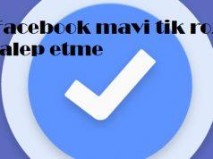 Facebook mavi tik rozeti talep etme