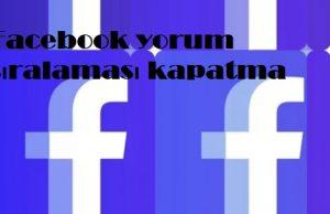 Facebook yorum sıralaması kapatma