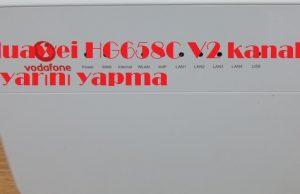 Huawei HG658C V2 kanal ayarını yapma