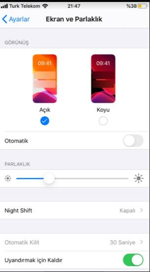 instagram karanlık modu açma iphone