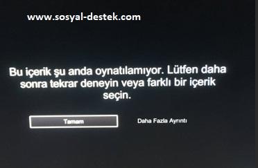 Netflix içerik oynatılamıyor uyarısı alıyorum