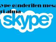 Skype gönderilen mesajı geri alma