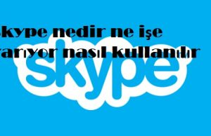 Skype nedir ne işe yarıyor nasıl kullanılır