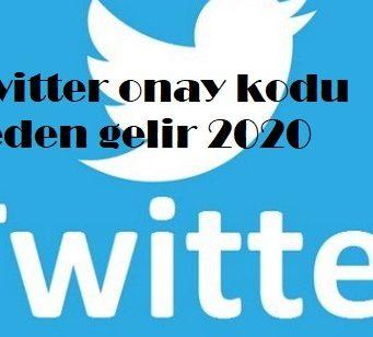 Twitter onay kodu neden gelir 2020