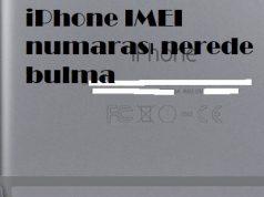 iPhone IMEI numarası nerede bulma
