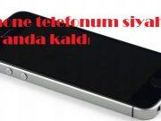 iPhone telefonum siyah ekranda kaldı