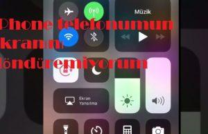 iPhone telefonumun ekranını döndüremiyorum