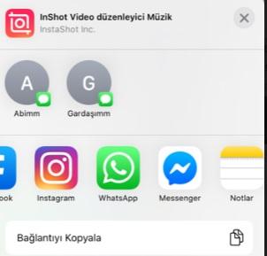 iPhone uygulamaları başkasıyla paylaşma
