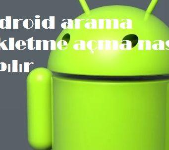 Android arama bekletme açma nasıl yapılır