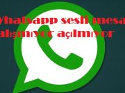 Whatsapp sesli mesaj çalışmıyor açılmıyor