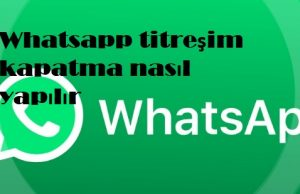 Whatsapp titreşim kapatma nasıl yapılır