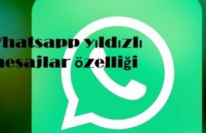 Whatsapp yıldızlı mesajlar özelliği