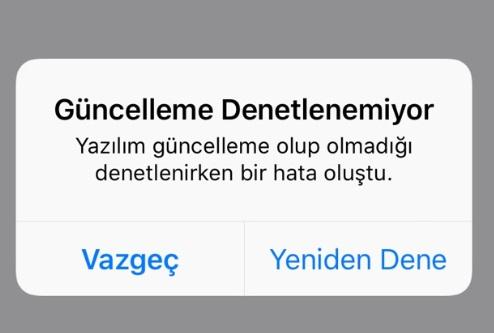 iphone güncelleme denetlenemiyor