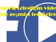 Facebook izlediğin videolar izleme geçmişi temizleme