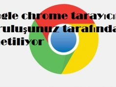 Google chrome tarayıcınız kuruluşunuz tarafından yönetiliyor