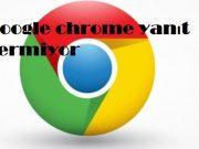 Google chrome yanıt vermiyor