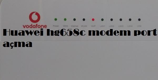 Huawei hg658c modem port açma