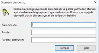 Windows 10 giriş şifresi istemesin sormasın