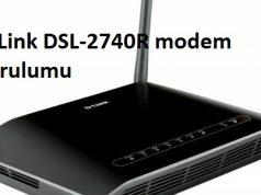 D-Link DSL-2740R modem kurulumu