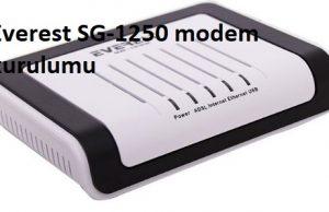 Everest SG-1250 modem kurulumu