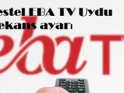 Vestel EBA TV Uydu frekans ayari