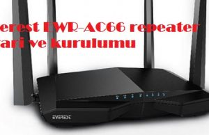 Everest EWR-AC66 repeater ayari ve kurulumu