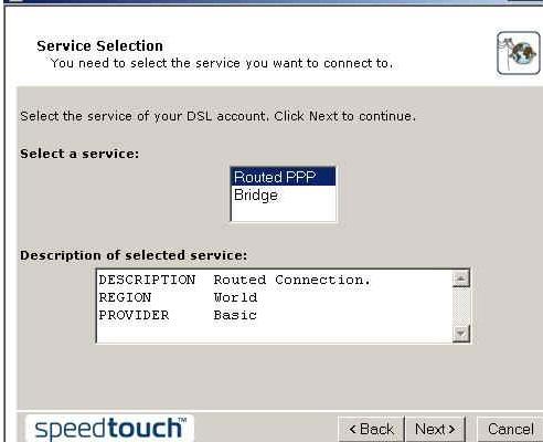 SpeedTouch 510v6 kurulumu