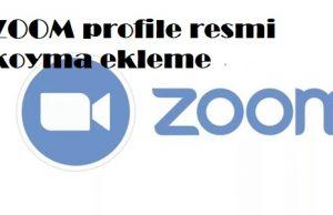 ZOOM profile resmi koyma ekleme