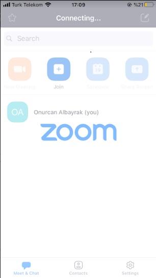 zoom uygulaması donmasın
