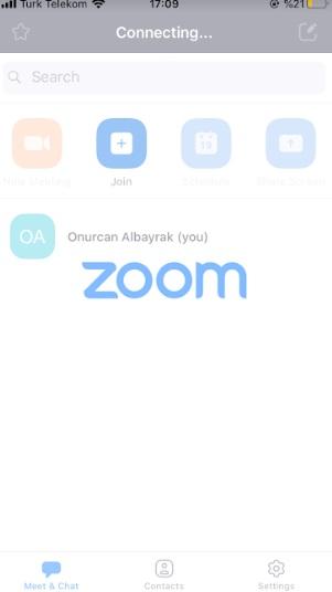 zoom uygulamasına giriş yapamıyorum
