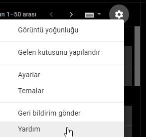Gmail sorun bildirme