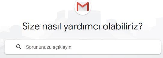 Gmail sorun bildirme mail adresi iletişim
