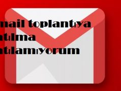 Gmail toplantıya katılma katılamıyorum