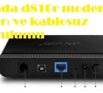 Tenda d810r modem ayarı ve kablosuz kurulumu