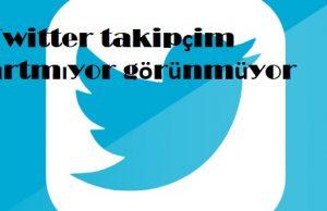 Twitter takipçim artmıyor görünmüyor
