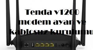 Tenda v1200 modem ayarı ve kablosuz kurulumu