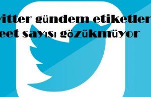 Twitter gündem etiketleri tweet sayısı gözükmüyor