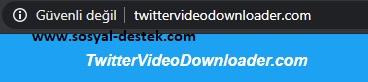 Twitter video indirme