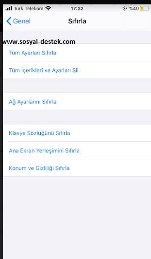iPhone SE formatlama sıfırlama