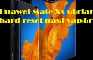 Huawei Mate Xs sıfırlama hard reset nasıl yapılır
