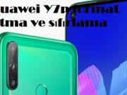 Huawei Y7p format atma ve sıfırlama
