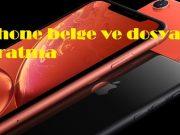 iPhone belge ve dosya taratma