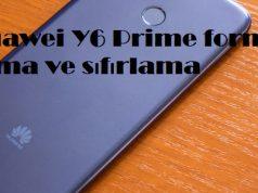Huawei Y6 Prime format atma ve sıfırlama