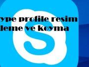 Skype profile resim ekleme ve koyma