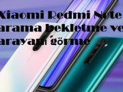 Xiaomi Redmi Note 8 arama bekletme ve arayanı görme