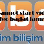 Eba cannot start video ve video başlatılamıyor