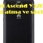 Huawei Ascend Y520 format atma ve sıfırlama